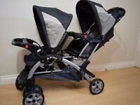 Baby Trend Sit 'N Stand Double Travel Stroller, Baby Child Twins Foldable Kids