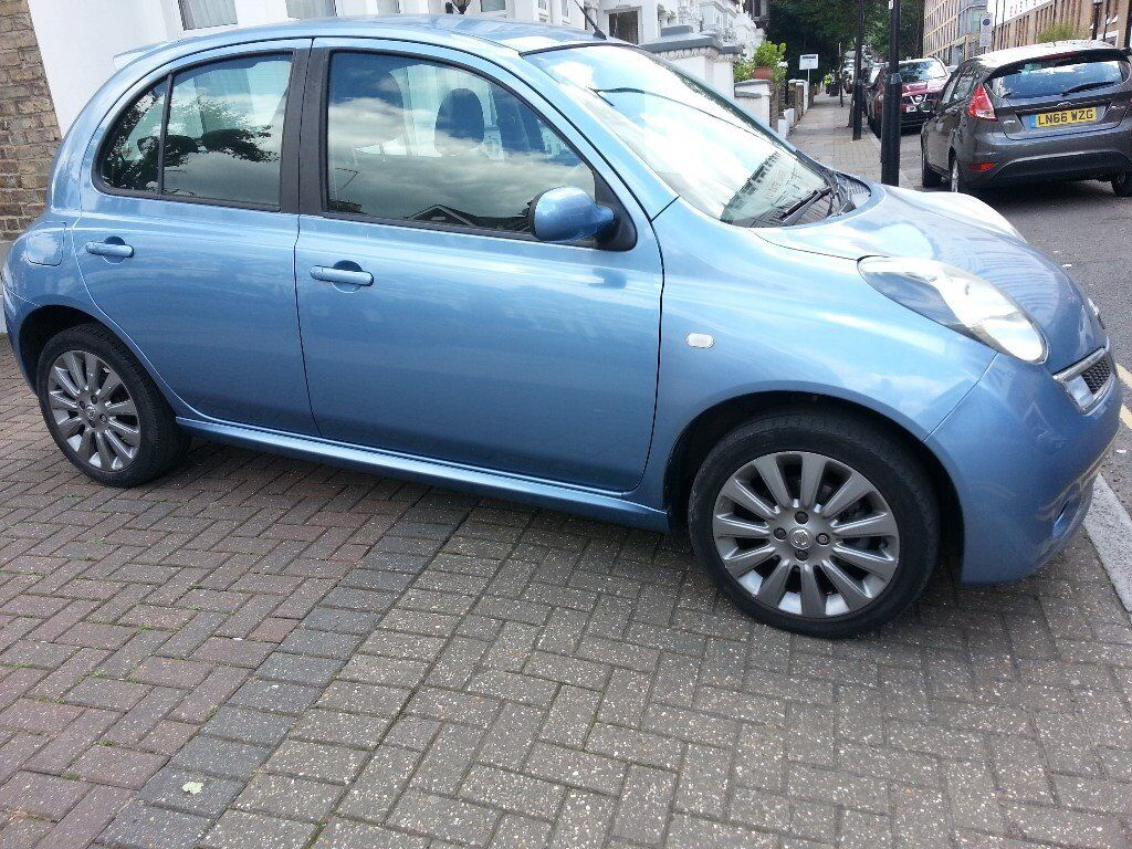 2009 58 reg nissan micra tekna 1 2 manual metallic blue 5dr hatchback in islington london. Black Bedroom Furniture Sets. Home Design Ideas