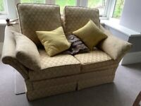 2 seater sofa; with drop sides