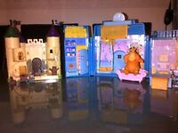 Small castle and The famous big blue house