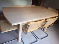 Maple Veneer Dining Table - seats 6/10 - buyer collects