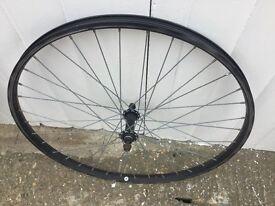 "26"" front mountain bike wheel."
