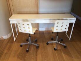 Ikea Besta Burs desk and chairs