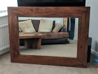 Large Sheesham Mirror