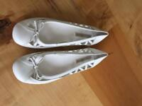 Brand new Next white leather flatties size 7