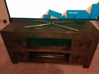 Solid mango wood tv unit immaculate condition only reason for sale is i fancy a change