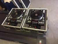 Denon DNS 3700 pair with flight cases