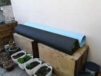 Artificial lawn and foam underlay (new & unused)