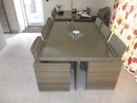 RATTAN Dining Set (Bramblecrest Sahara) Large Cube Set (seats up to 10)