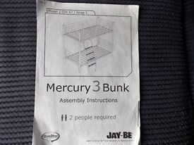 mercury 3 bunk beds with assemble instructions