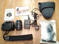 Canon EOS 100D 18.0MP Digital SLR Camera - Black (Kit w/ 18-55mm Lens)