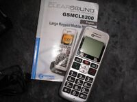 GEEMARC CL800 MOBILE PHONE, LARGE LCD DISPLAY AND BUTTONS