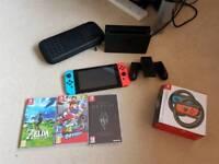 Nintendo Switch + 3 Games