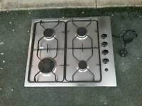 STAINLESS AEG 4 X BURNER GAS HOB/FIXINGS/CONNECTOR ETC £39.99