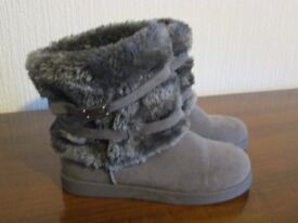 Ladies short grey boots for sale
