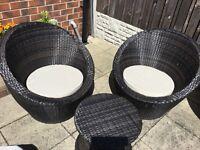Rattan 3 piece garden furniture