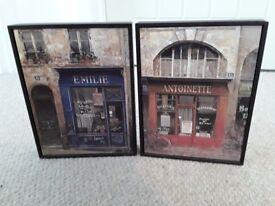 Set of 2 prints in black frame