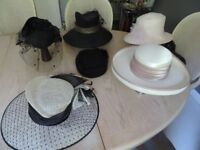 SELECTION OF LADIES HATS FOR WEDDINGS OR EVENTS (priced from £3 to £20)