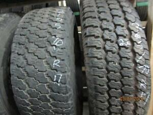 265/70R17 2 ONLY USED GOODYEAR A/S TIRE