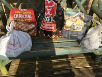 BBQ charcoal and briquettes