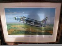 'Cruising Home', English Electric Lightning F6 Framed Print, by Sean Rodwell,artist and pilot signed