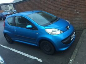 Peugeot 107 clean car, would swap for a bigger car or 995