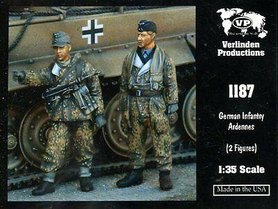 Verlinden 1:35 German Infantry Ardennes - 2 Resin Figures Kit #1187
