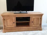Large solid oak TV Cabinet