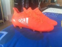 Men's Football Boots Adidas X.16.1 Firm Ground UK Size 7.5 Solar Red with Free Bag