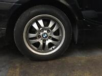 BMW ALLOY WHEELS 16 INCH - 205/55/16 ALLOYS WITH TYRES GOOD