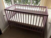 moKee Mini - Baby Space Saver Cot Bed with Aloe Vera Mattress