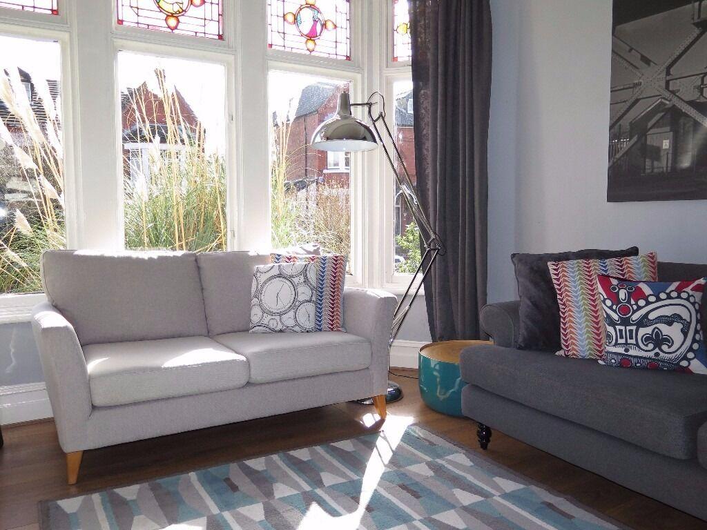 John Lewis Living Room Furniture Pale Grey John Lewis Anna 2 Seater Sofa In New Brighton
