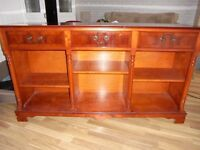 Teak sideboard in gloss finish