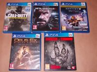 PLAYSTATION 4 GAMES £4 EACH