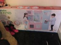 Brand new in box wooden play kitchen