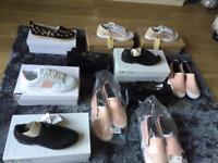 Shoes plimsolls slip on trainers dolly shoes £5 per pair BNIB!!😀