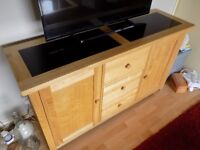 Wooden TV unit, coffee table and side unit living room set