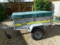 Larger franc tipping trailer + high sides / cover