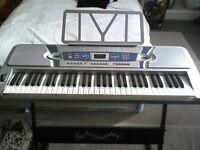 Pitch master duo68254 61 key electronic keyboard