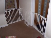 dreambaby extra wide baby gates with add on extensions so you can put it on a hallway