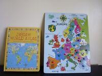 JIGSAW World Atlas Puzzle Book Plus Europe Puzzle