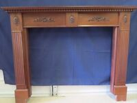 Solid mahogany fire surround