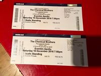 2 standing tickets to chemical brothers live at Hammersmith apollo tonight 10 Dec face value 45 each