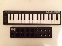 Keystation Mini 32 (M-AUDIO) + AKAI Professional LPD8 >>BUNDLE
