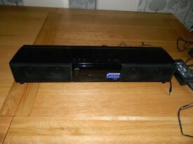 JVC sound bar with ipod docking station