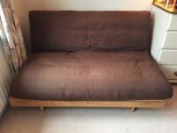 Comfortable solid pine double futon