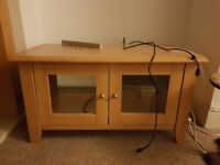 Tv cabinet, wood with glass doors