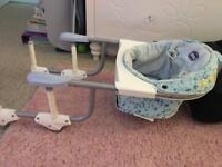 Chicco folding highchair to put on a table