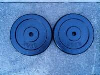 2 x 20kg metal weight plates