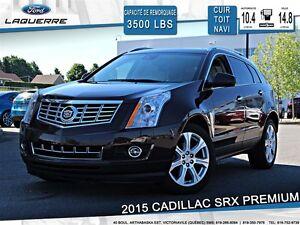 2015 Cadillac SRX PREMIUM**AWD*CUIR*TOIT* NAVI*CAMERA*A/C 2 ZONE